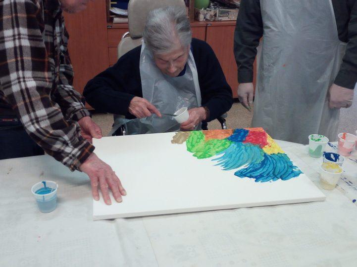 "Ospiti dipingono CRA ""Sassoli"""